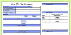 Initial SEN Parent Interview Form Template