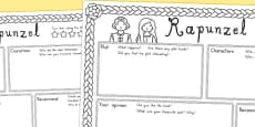 Australia - Rapunzel Book Review Writing Frame