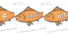 100 High Frequency Words on Goldfish