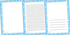 Blue with White Spots Page Borders