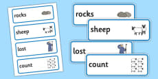 The Lost Sheep Word Cards