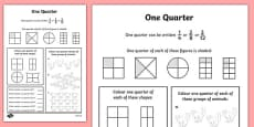 Fractions Quarter Activity Sheet