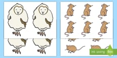 Owl and Mice Cut-Outs
