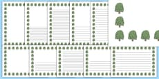 Willow Tree Themed Page Borders