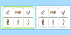 Matching Cards and Board to Support Teaching on Stick Man