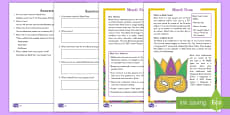 Mardi Gras Differentiated Comprehension Go Respond Activity Sheets