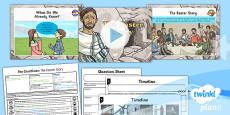 PlanIt - RE Year 6 - Free Will and Determinism-The Crucifixion Lesson 1: The Easter Story Lesson Pack
