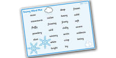 Weather and Seasons Snowy Word Mat