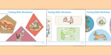 Beatrix Potter Cutting Skills Worksheets