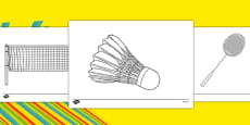 The Olympics Badminton Colouring Sheets