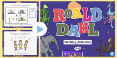 Roald Dahl Themed Reception Morning Activities Incidental Welsh PowerPoint