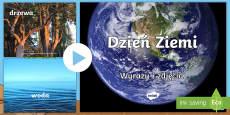 Prezentacja PowerPoint Wyrazy i obrazki Dzień Ziemi