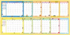 2016 Themed Calendar
