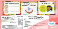 PlanIt - Art LKS2 - Fruit and Vegetables Lesson 6: Finishing Fruit and Vegetable Softies on Fabric Lesson Pack