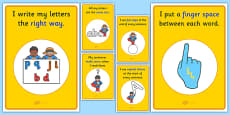 Sentence Writing Prompts Display Posters