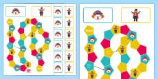 Circus Themed Editable Board Game