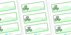Three Leaf Clover Drawer Peg Name Labels