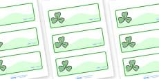 Three Leaf Clover Drawer Peg Name Labels