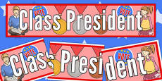 Class President Display Banner