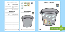 What's in the Bin?  Inference Activity Sheet