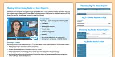 Making a TV or Radio News Report Teaching Ideas