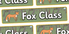 Fox Themed Classroom Display Banner