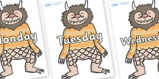 Days of the Week on Wild Thing (1) to Support Teaching on Where the Wild Things Are