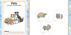 Pets Counting to 10 Cut and Paste Booklet