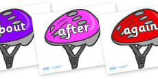 KS1 Keywords on Bike Helmets (Multicolour)