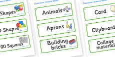 Hazel Tree Themed Editable Classroom Resource Labels