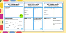 How to Catch a Dream Instructions Worksheet to Support Teaching on The BFG