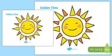 Golden Time Giant Display Sun Cut-Out