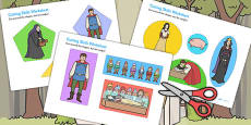Snow White and the Seven Dwarfs Themed Cutting Skills Activity Sheet