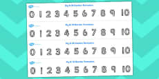 Number Formation Strips 0 - 10