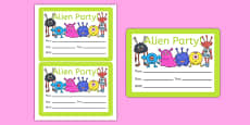 Alien Party Invitations