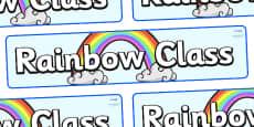 Rainbow Themed Classroom Display Banner