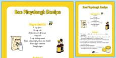 Bee Playdough Recipe