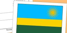 Rwanda Flag Display Poster