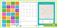 Fingerspelling Word Search Activity Pack