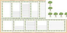 Apple Tree Themed Page Borders