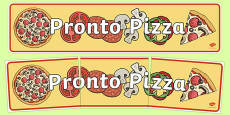 Pizza Shop Role Play Display Banner