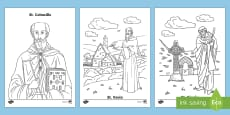 Irish Saints Colouring Pages