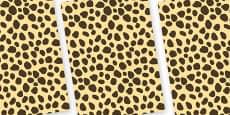 Cheetah Themed Pattern A4 Sheets
