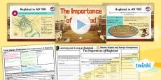 PlanIt - History UKS2 - Early Islamic Civilisation Lesson 1: The Importance of Baghdad Lesson Pack