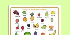 Fruit Word Mat Polish