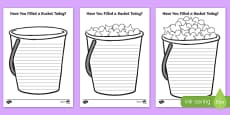 Have You Filled a Bucket Today Writing Frame