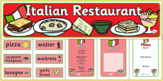 Italian Restaurant Role Play Pack