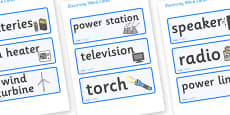 Electricity Word Cards