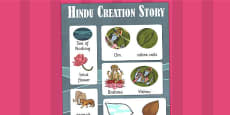 Hindu Creation Story Vocabulary Poster