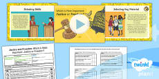 PlanIt - RE Year 6 - Justice and Freedom Lesson 6: Which is More Important: Justice or Freedom? Lesson Pack
